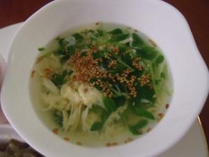 H30.9.7 豆苗と卵のスープ 1