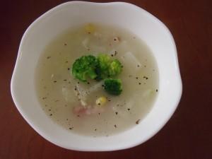 H30.12.11 冬野菜のミルクスープ 1